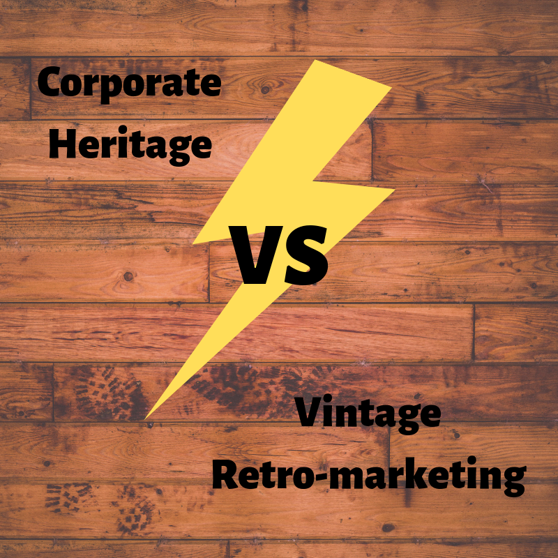 Corporate heritage vs retro-marketing e vintage